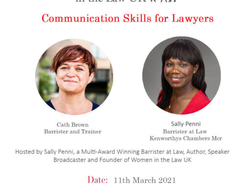 11th March – Cath Brown; Communication Skills for Lawyers