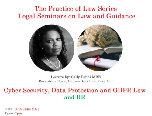 30th June – The Practice of Law Series: Cyber Security, Data Protection and GDPR Law and HR.