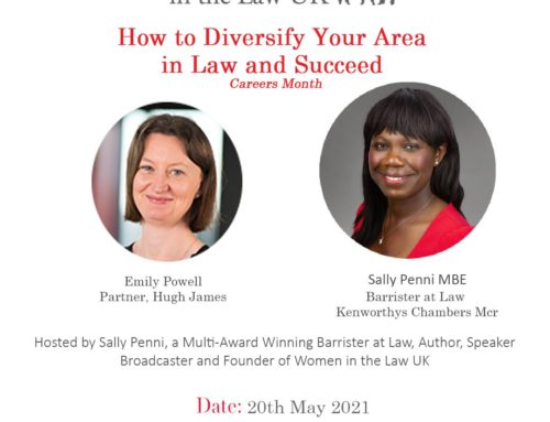 20th May – How to Diversify Your Area in Law and Succeed