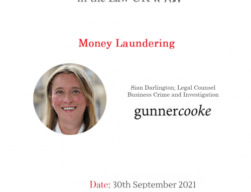 30th Sept – Lunch & Learn: Money Laundering
