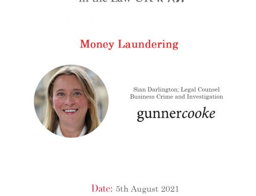 5th Aug – Lunch & Learn: Money Laundering